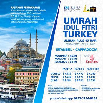 Umrah Idul Fitri Plus Turki